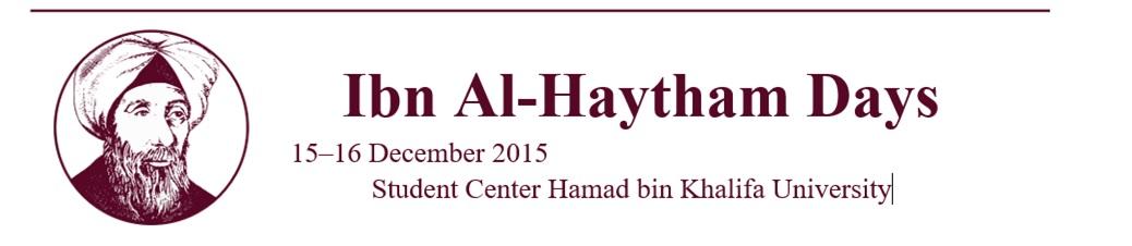 Ibn Al-Haytham Day Logo